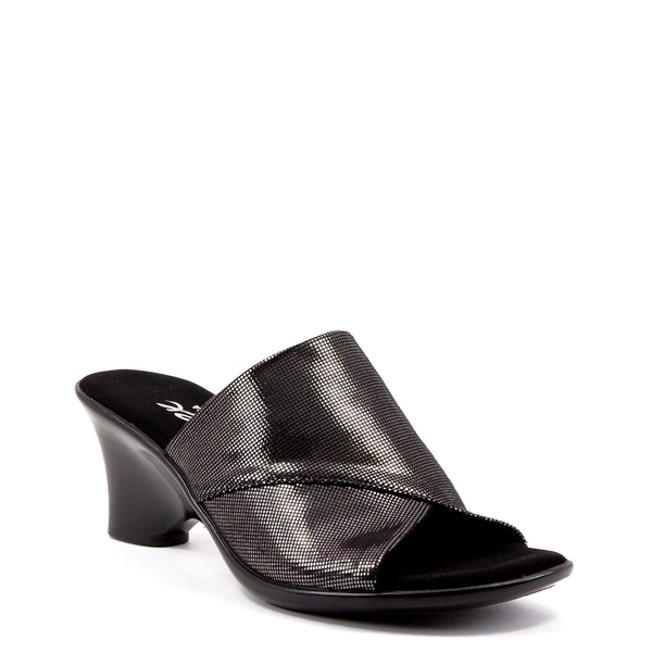 Onex Shoes black low heel wedge