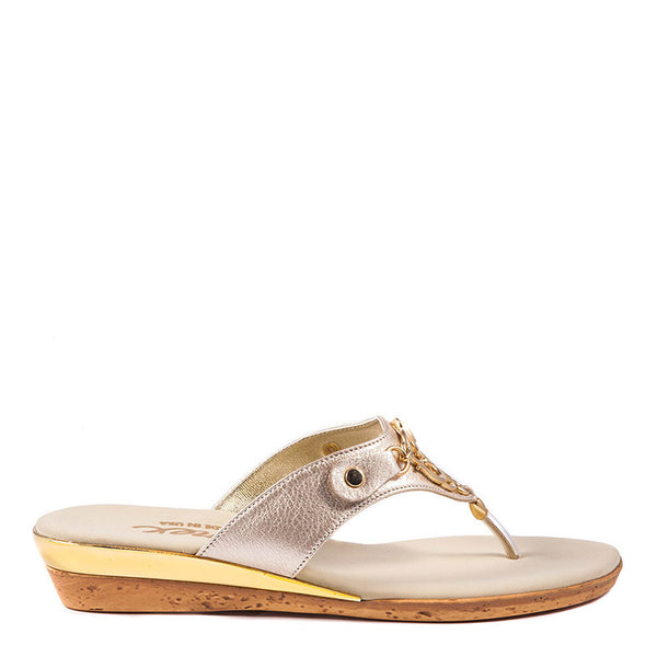 Raindrop Onex Sandal In Silver By Onex Shoes