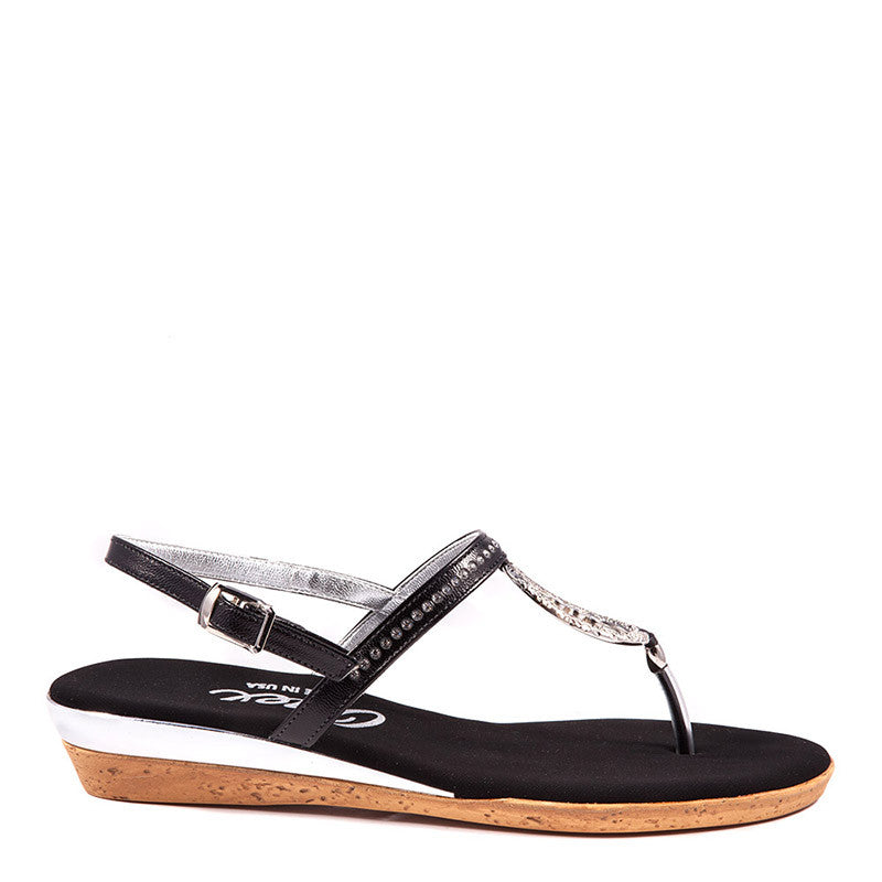 Black Rolo Onex Sandal By Onex Shoes