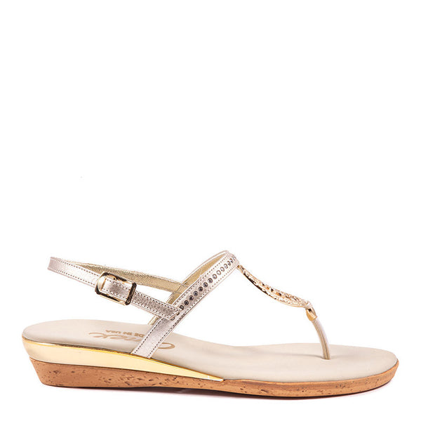 Rolo Onex Sandal In Gold By Onex Shoes
