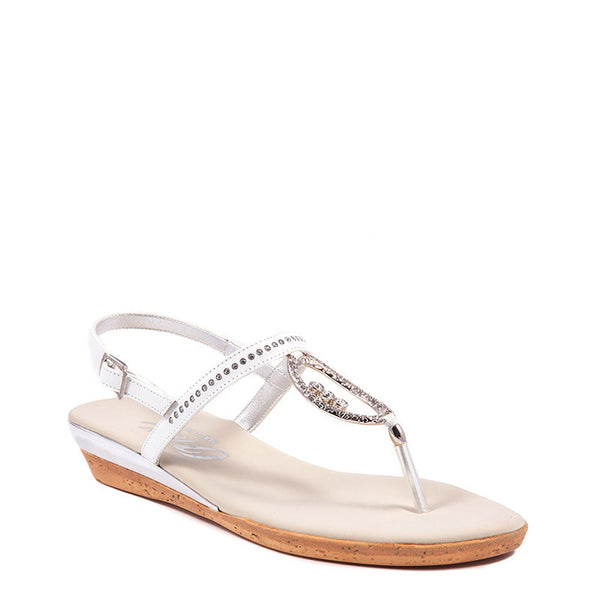 White Rolo Onex Sandal By Onex Shoes
