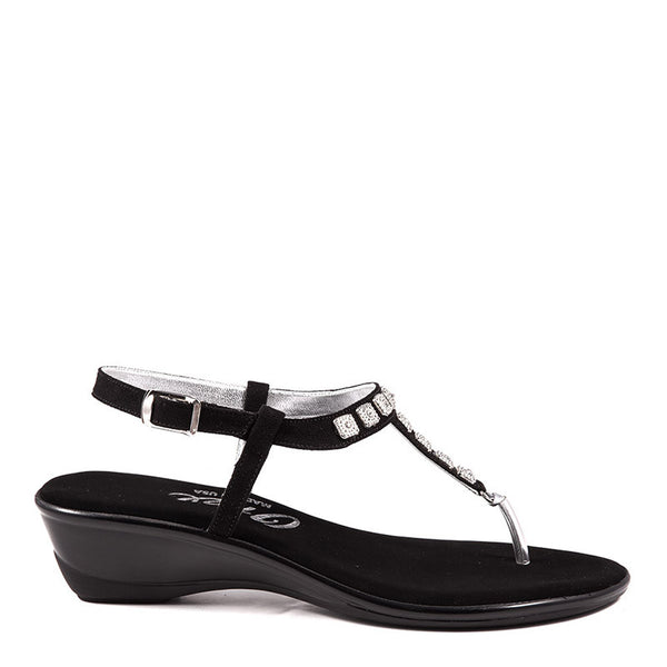 Black Sprinkles Onex Sandal By Onex Shoes - Black Thong Sandals