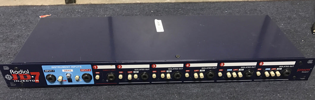 Radial JD7 Injector 2-In, 7-Out Signal Routing System for Guitarist (used)
