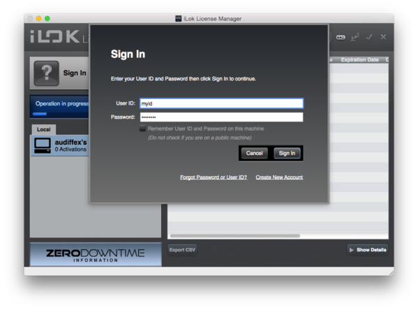 Pace iLok Account Recovery