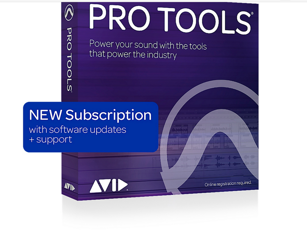 Avid Pro Tools 2018 Software Annual Subscription (non boxed)