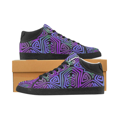 Low Top Canvas Sneakers- Purple Reignz