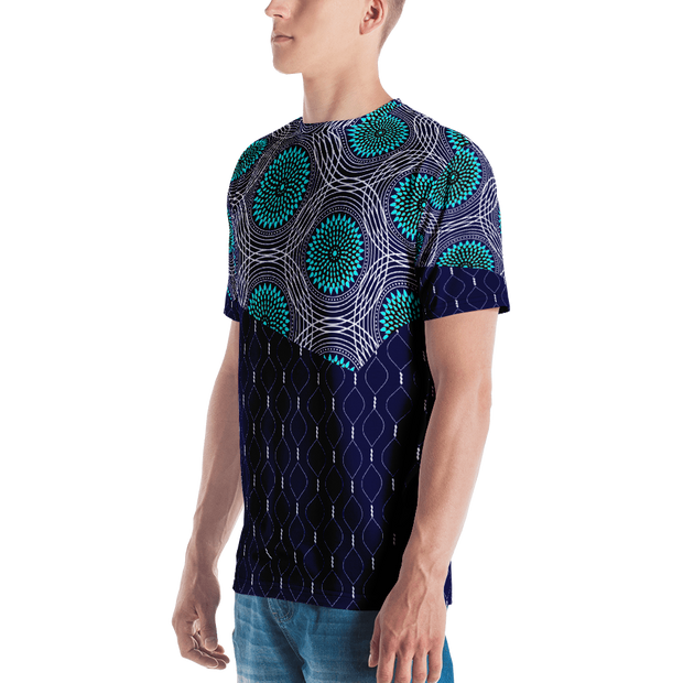 All-Over Print Men's Crew Neck T-Shirt- Topside