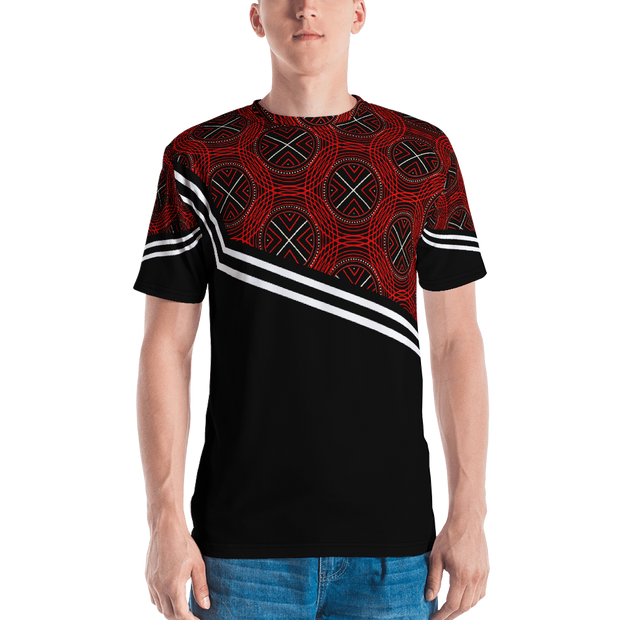 All-Over Print Men's Crew Neck T-Shirt- TrinSport
