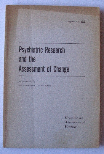 Psychiatric Research and the Assessment of Change