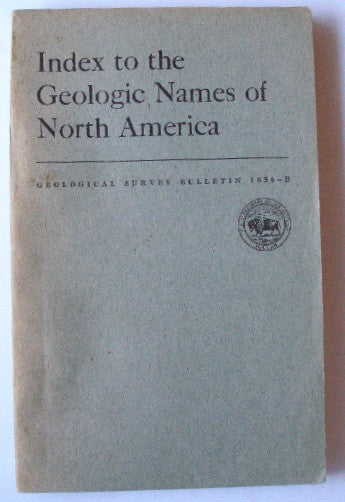 Index to the Geologic Names of North America