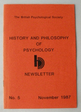 History and Philosophy of Psychology Newsletter #5 Nov 1987