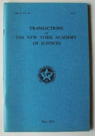 Transactions of The New York Academy of Sciences May 1963