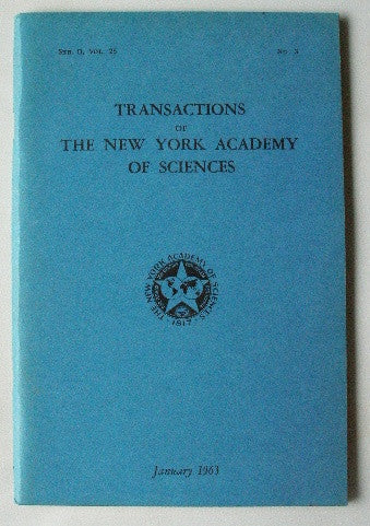 Transactions of The New York Academy of Sciences January 1963