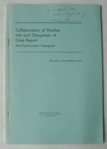 Collaboration of Psychiatrist and Clergyman: A Case Report - The Psychiatrist's Viewpoint