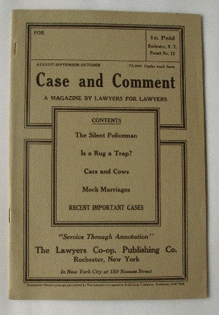 Case & Comment-The Lawyer's Magazine Aug-Sep-Oct - Vol. 27 No. 4