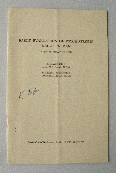 Early Evaluation of Psychotropic Drugs in Man - A Trial That Failed