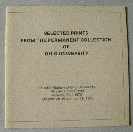 Selected Prints From the Permanent Collection of Ohio University