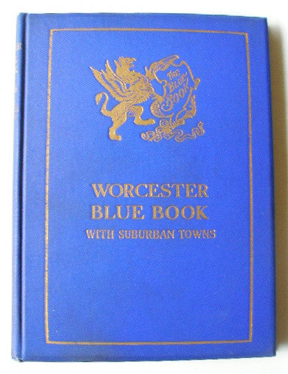 The Worcester and Suburban Blue Book, 1926
