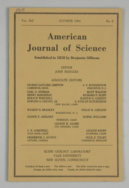 American Journal of Science - Vol 262 #8 - October 1964
