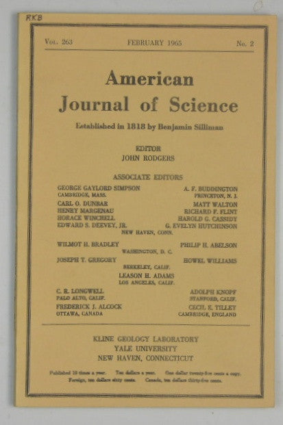 American Journal of Science - Vol 263 #2 - February 1965