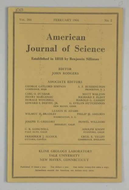 American Journal of Science - Vol 264 #2 - February 1966