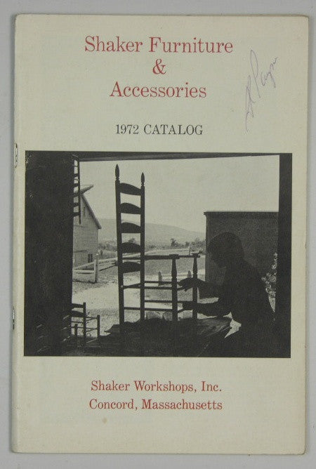 Shaker Furniture & Accessories 1972 Catalog