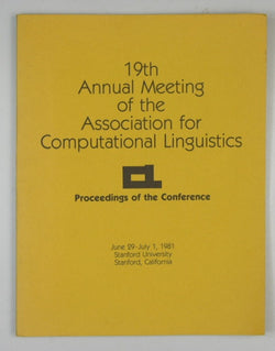 19th Annual Meeting of the Association for Computational Linguistics - Proceedings of the Conference