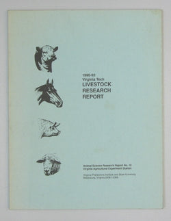 1990-92 Virginia Tech Livestock Research Report