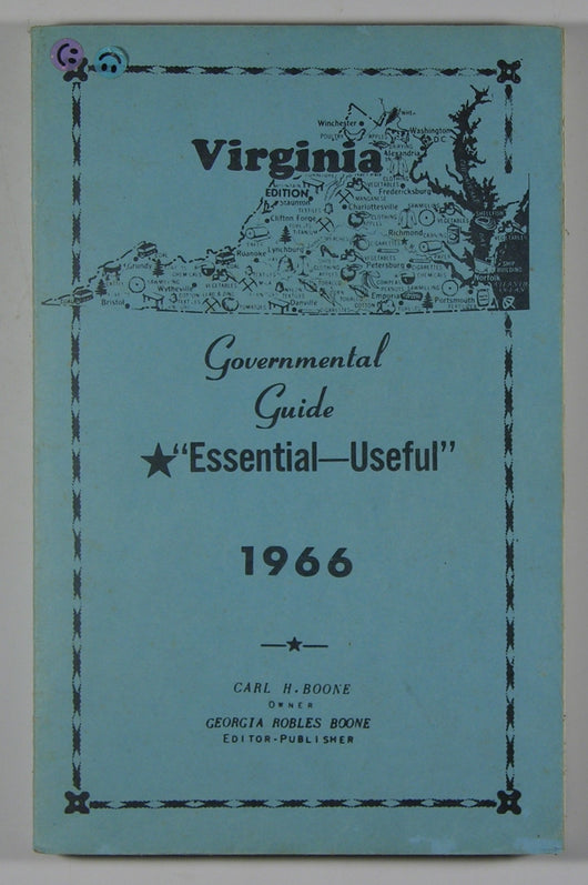 Virginia Governmental Guide 1966