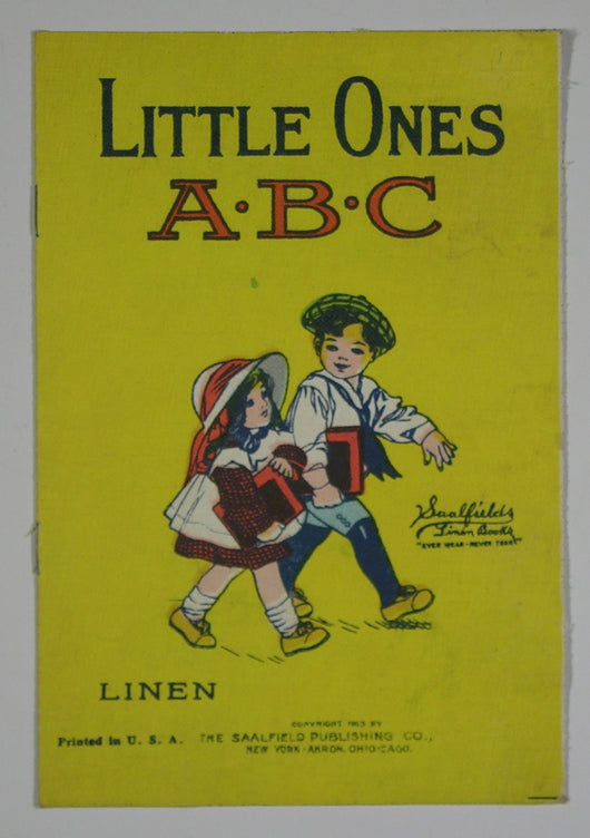 Little Ones ABC - Saalfield Linen Book #101