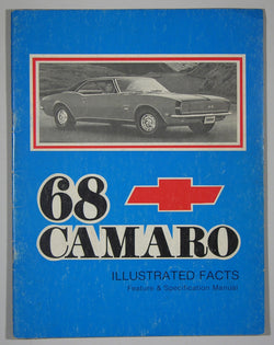 68 Camaro Illustrated Facts Feature & Specification Manual