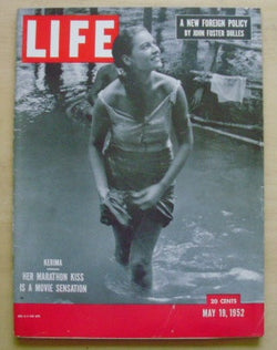 Life Magazine - Vol. 32, No. 20 - May 19, 1952 Kerima, Her Marathon Kiss is a Movie Sensation on cover