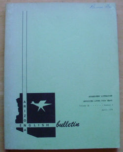 Arizona English Bulletin, Vol. 18, No. 3, April 1976 -- Adolescent Literature Revisited After Four Years