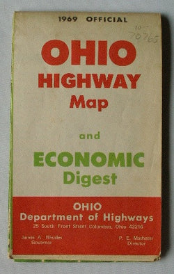 1969 Official Ohio Highway Map and Economic Digest