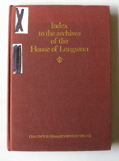 Index to the Archives of the House of Longman 1794-1914
