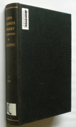 Bulletin of the John Rylands Library - Manchester - Volume 11 . 1927