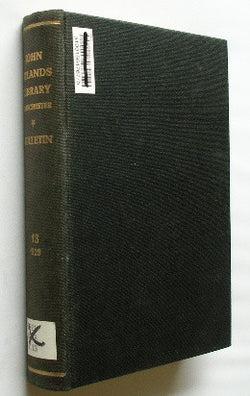 Bulletin of the John Rylands Library - Manchester - Volume 13 . 1929