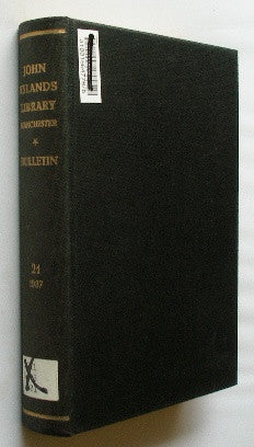 Bulletin of the John Rylands Library - Manchester - Volume 21. 1937