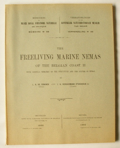 The Freeliving Marine Nemas of the Belgian Coast. II with General Remarks on the Structure and the System of Nemas.