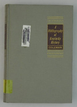 A Bibliography of Kentucky History