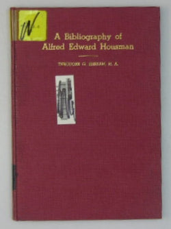 A Bibliography of Alfred Edward Housman