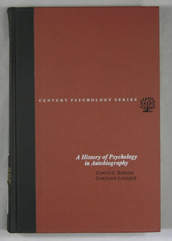 A History of Psychology in Autobiography -- Volume V