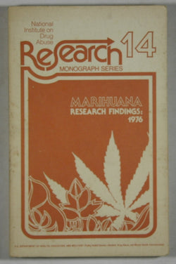 Marihuana - Research Findings: 1976 - NIDA Research Monograph 14