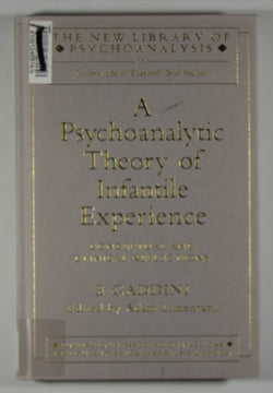 A Psychoanalytic Theory of Infantile Experience - Conceptual and Clinical Reflections - The New Library of Psychoanalysis - 16