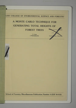 A Monte Carlo Technique for Generating Total Heights of Forest Trees - School of Forestry Miscellaneous Publication Number 4