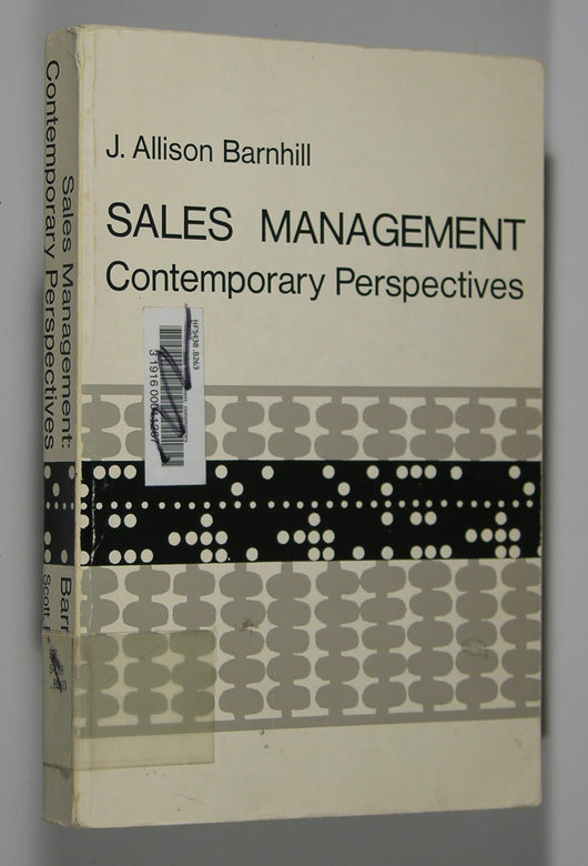 Sales Management: Contemporary Perspectives