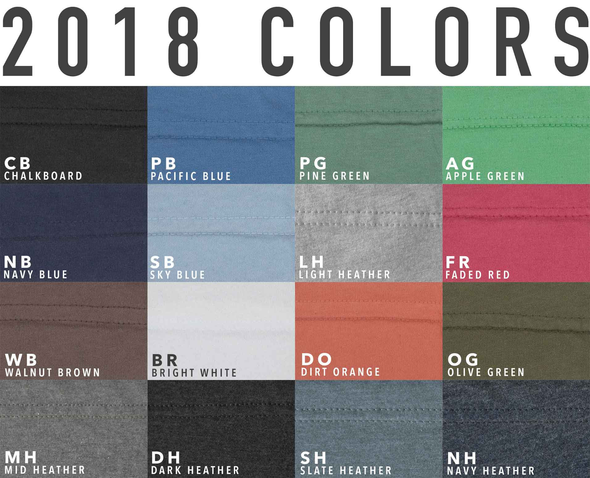 HARVESTER Co.® 2018 Fabric Colors