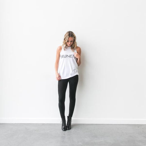 The BRUNETTE Crew Neck Tank