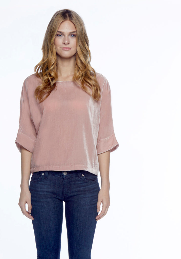 Cupcakes and Cashmere - Kobe top in Misty Rose