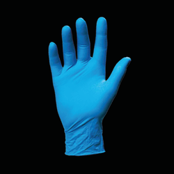 Vinyl powdered glove - blue - case of 1000 pieces